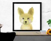 fox art print / endangere...