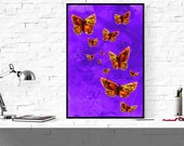 butterfly art print, natu...