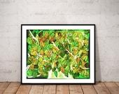 tree art print / nature a...
