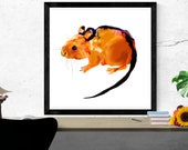 mouse illustration art pr...