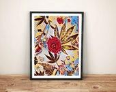 botanical art print / mar...