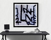 abstract painting print /...