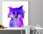 fox art print / animal il...