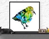 bird art print / yellow g...