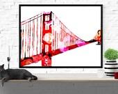 Golden Gate Bridge art pr...