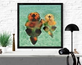 otter art print / souther...