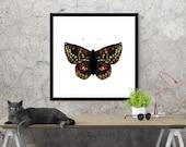 butterfly art print / nat...