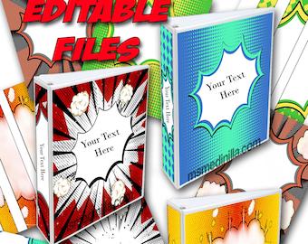 superheroes binder covers super hero student teacher editable etsy