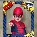 Superhero Theme/ Photo Booth / DIGITAL FILE / Prop Frame / Super Heroes Party / Printable DIY / Comic Book