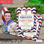 Eagle Scout Invitation, Court of Honor PHOTO Invitation, Boy Scout Invitation, Digital Invitation