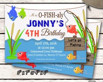 Fish Themed Invite Etsy