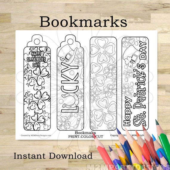 St. Patrick's Day bookmark coloring bookmarks Bookmark