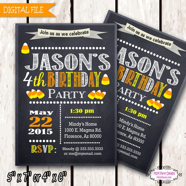 Halloween Birthday Invitation Costume Party Invitation Personalized