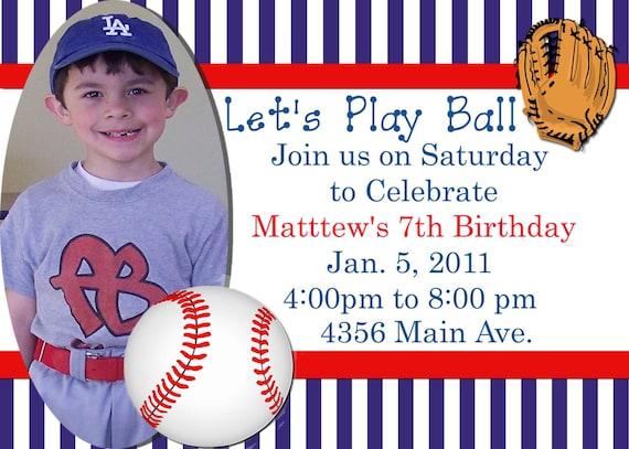 Tarjetas De Beisbol Para Imprimir Fiesta De Baseball Invitación De Cumpleaños Archivo Digital Para Imprimir