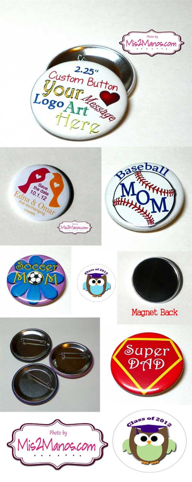 Last Sail before the Veil Custom Buttons Personalized Buttons Pin Back Promotional Buttons Set of 15