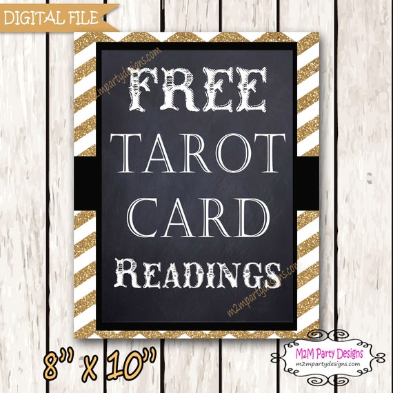 Tarot Reading Sign - WeddingPhoto Booth Sign - Sign Printable - DIY INSTANT DOWNLOAD