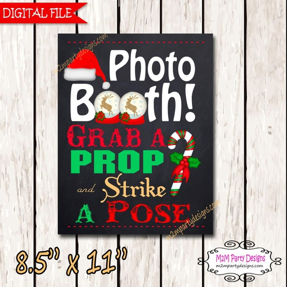 Christmas Photo Booth Sign Christmas Party Photo Booth Etsy
