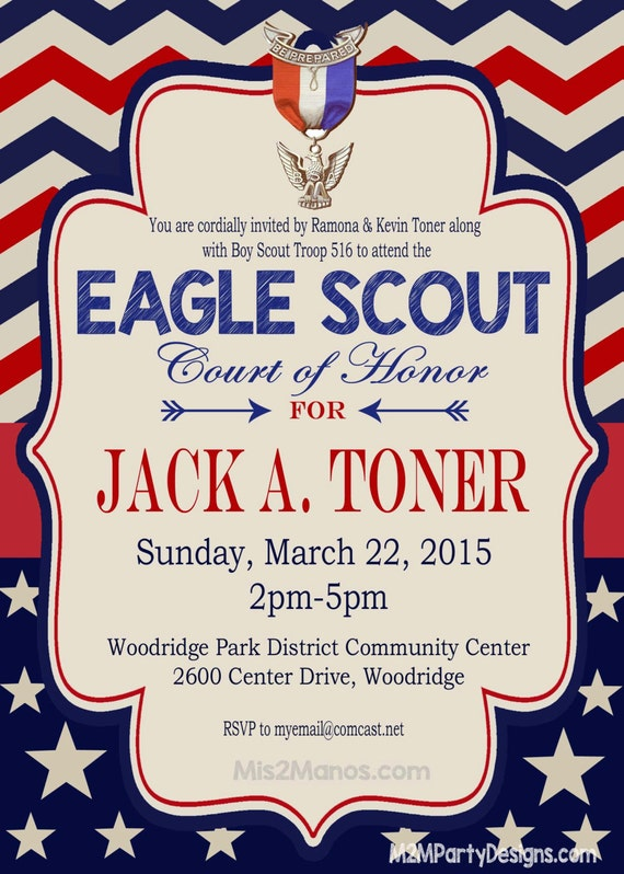 Eagle Scout Invitation Court Of Honor Invitation Boy Scout Etsy