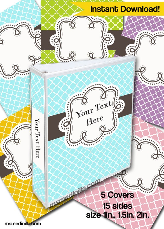 binder covers school baby blue student teacher editable etsy
