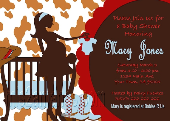 western baby shower invites cowboy western party invitations etsy