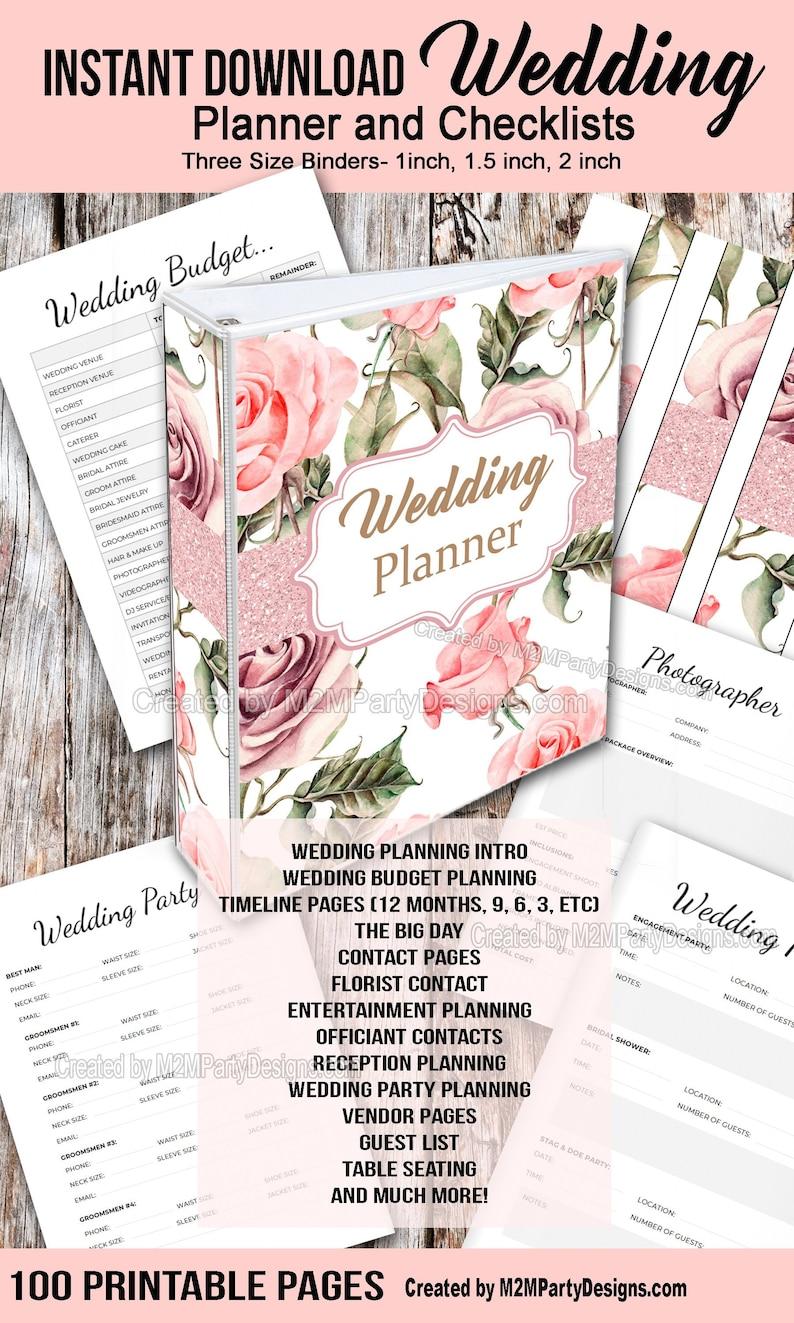 Wedding Planner Printable Wedding Planner Wedding Binder image 0