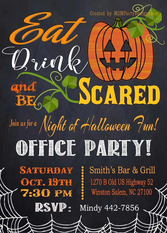 Halloween Office Party Birthday Anniversary