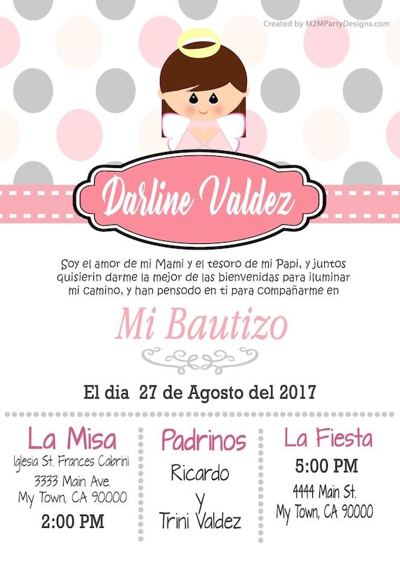 Tarjetas De Bautizo Invitaciones De Bautismo Recuardos Personalizados Que Imprimes En Casa