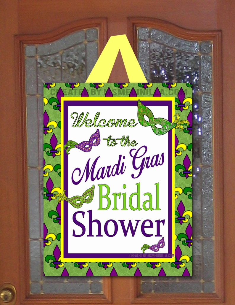 5006f0ffba4e Mardi Gras Party Sign Mardi Gras Bridal Shower Soiree DIY