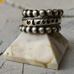 RING Sterling Silver 3 Ring Blessed Stack