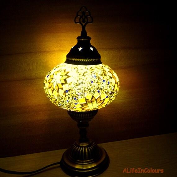 Lampa Stołowa Kolorowe Handmade Turecki Szkło Dekoracyjne Mozaiki Lampka Nocna Lampka Nocna Sypialnia Lampa Pokój Dziecięcy