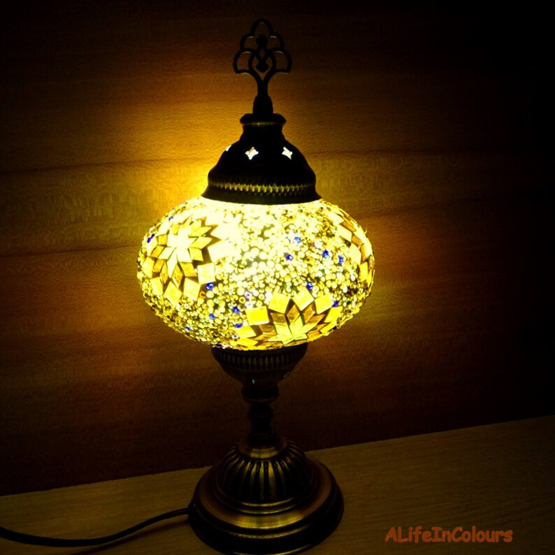 Excellent Colourful Handmade Decorative Turkish Glass Mosaic Table Lamp Bedside Lamp Bedroom Night Lamp Kids Room Lamp Interior Design Ideas Clesiryabchikinfo