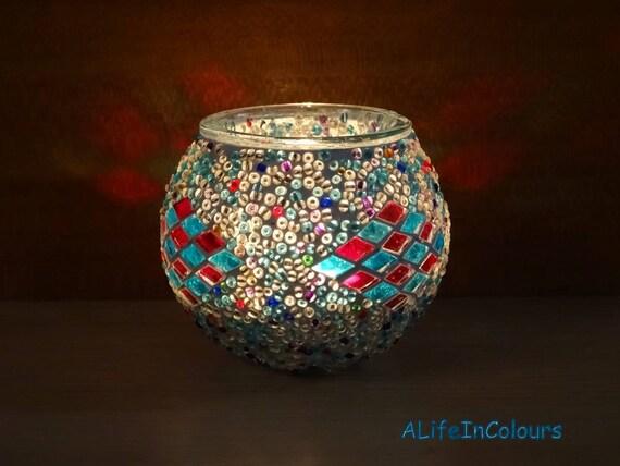 Szkło Dekoracyjne Mozaiki Kolorowe Ręcznie Robione Unikalne świeca Posiadacza Posiadacz Ołówek Mały Wazon Mozaika