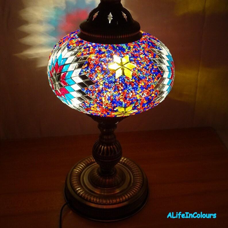ChevetChambre Coucher À Mosaïque Verre Lampe La De Main Coloré Réalisées NuitSalle Uniques En Lampe Manger E9D2WYeHIb