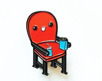 Happy Movie Chair Enamel Pin
