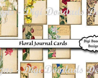 Printable Floral Tags Labels Journal Cards
