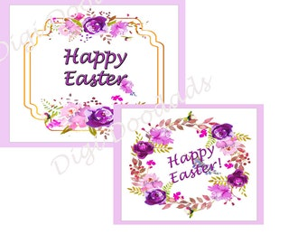 Easter Cards 4 Styles Instant Download Printable Note Cards