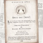 Chapter One Save the Date // Fantasy Book Theme Wedding // Digital Invitations // Geeky Wedding // Nerd Wedding Invite // Magic Wedding
