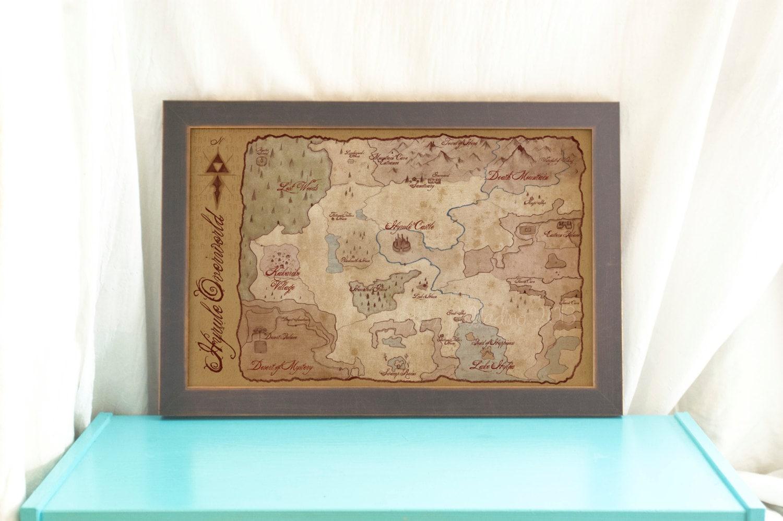 Hyrule Weltkarte / / The Legend of Zelda einen Link in die | Etsy