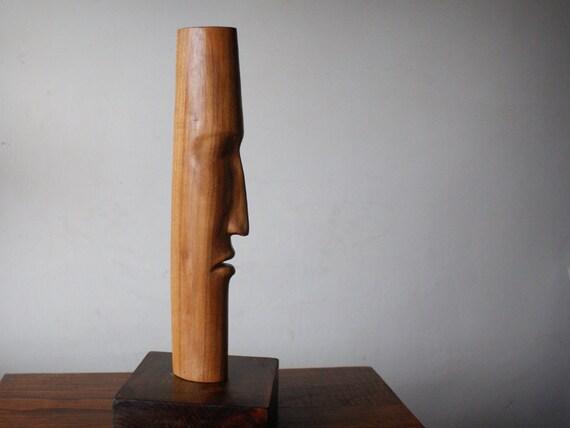 t te de iii statue en bois sculpt la main ch ne sculpture etsy. Black Bedroom Furniture Sets. Home Design Ideas