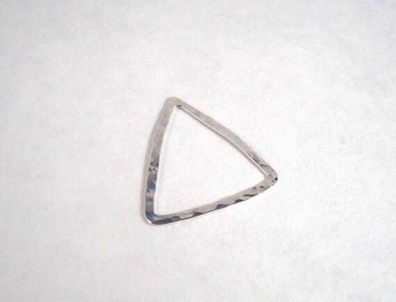 1 en triangle 30mm martelé en 1 argent sterling argentium 05ad35