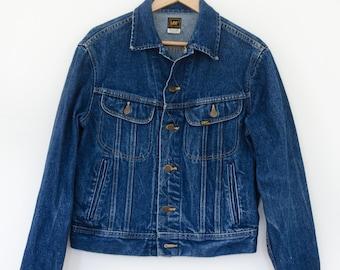 Lee 80s Denim Jacket | Vintage Lee Denim Jacket Men's Small