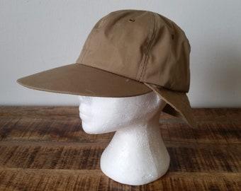 f2b032b245f46 Vintage 1970 s Beige Cotton Columbia Sportswear Wide Brim Fishing Hunting  Field Cap Hat Sz-L