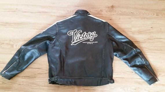 Women's Vintage 1990's Black Leather VICTORY MOTOR