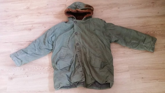 Vintage 1940's Men's Olive Canvas US Army Air Forc