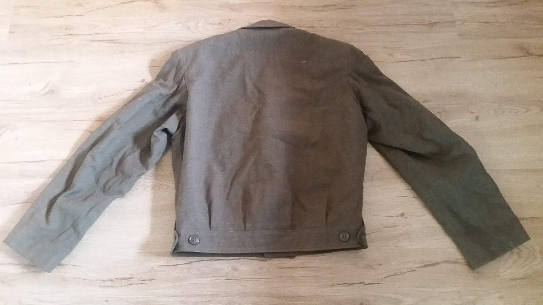 1940s Mens Ties | Wide Ties & Painted Ties Mens Vtg 1940S Wwii Ww2 Era Olive U.s Army Military Ike Field Wool Jacket Coat Size-38 $40.00 AT vintagedancer.com