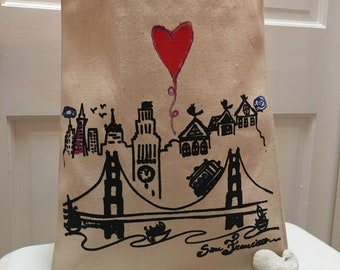 I left my heart in San Francisco Tote Bag!