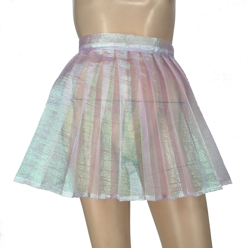 e8392c440 Handmade Iridescent Pleated Mini Skirt XS-XL Choose Your | Etsy