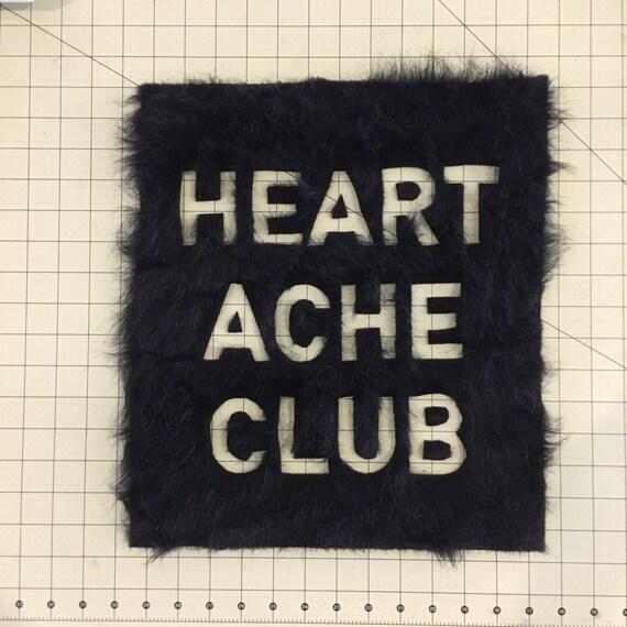 Vegan Faux Fur Heartache Club Patch SALE