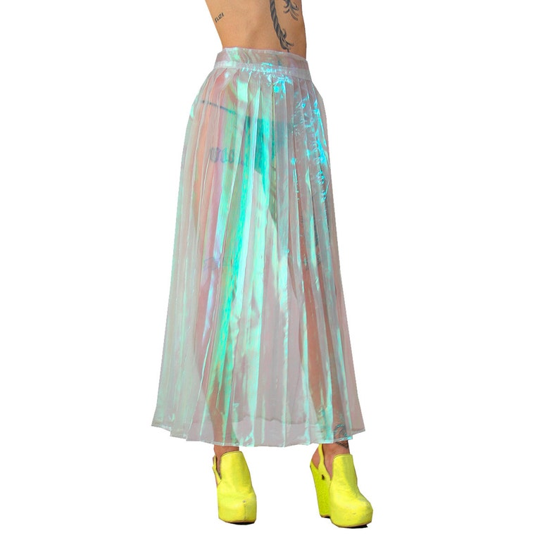 21c0daadb Handmade Iridescent Pleated Skirt XS-XL Choose Your Size | Etsy