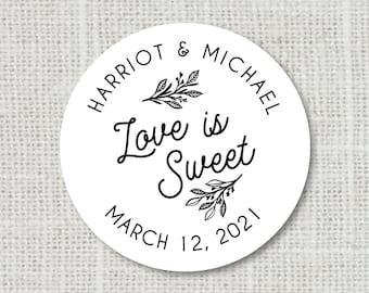 Wedding Favor Labels Wedding Favor Stickers Item code: S014 Candy Wedding Favors Honey Jar Labels Beach Seaside Theme Wedding Stickers
